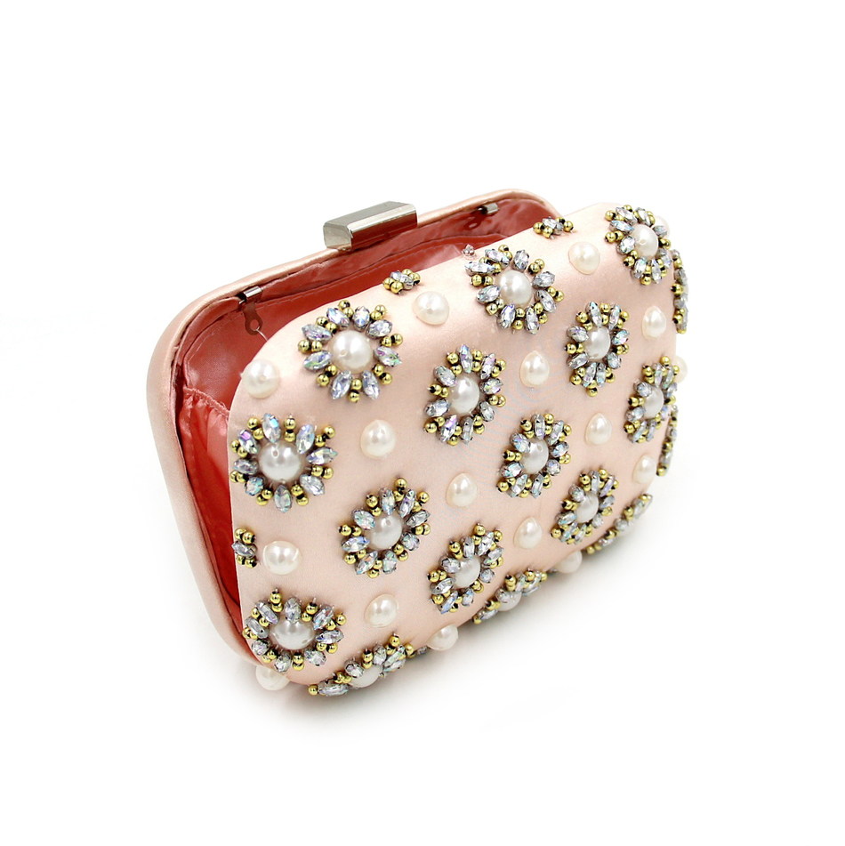 Milisente pink flower bag lady party clutches beaded pearl bags milisente pink flower bag lady party clutches beaded pearl bags designer women wedding clutch evening purse and handbags in clutches from luggage bags on mightylinksfo
