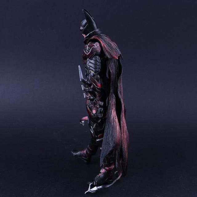 Play Arts Kai DC Comics Mavel Super Hero Batman Bat-man Limited Color Red Ver Figma Movable Action FigureBrinquedos
