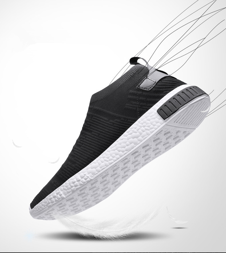 HTB19iGdzkyWBuNjy0Fpq6yssXXaT Thin Shoes For Summer White Shoes Men Sneakers Teen Shoes Without Lace Trend 2019 New Feel Socks Shoes tenis masculino chaussure