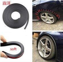 soft  Car Fender Flare Extension Wheel Eyebrow Protector Lip Wheel-arch Trim Wheel Eyebrow Arch Decorative Strip Car Tires Eyebr