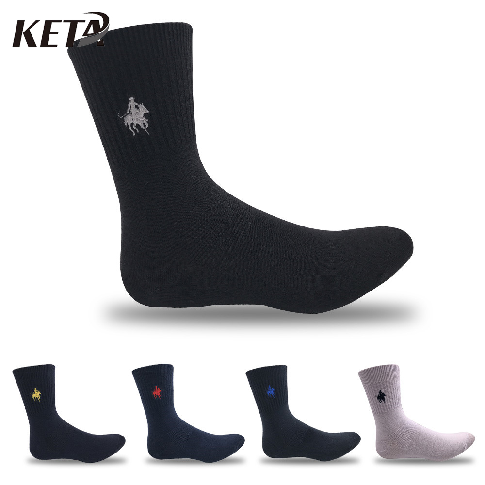 KETA Fashion Brand PIER POLO Socks Male Casual Crew Pure Cotton Socks Men Colorful Business Dress Socks (5Pairs/lot)