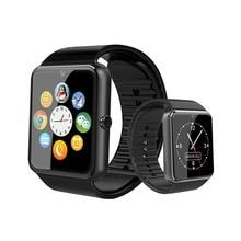 블루투스 gt08 스마트 시계 터치 스크린 큰 배터리 시계 지원 tf sim 카드 카메라 ios 아이폰 안 드 로이드 전화에 대 한 smartwatch