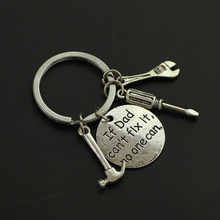 """1PC """"If Dad Can't Fix It No One Can"""" Hand Tools Keychain Daddy Key Rings Gift for Dad Fathers Day, Father Key Chain Accessories"""