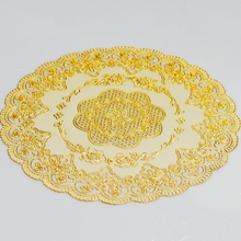 European Insulation pad Circular contracted Cup pvc Place Mats Heat Resistant Non Slip Table Coffee Tea Mat