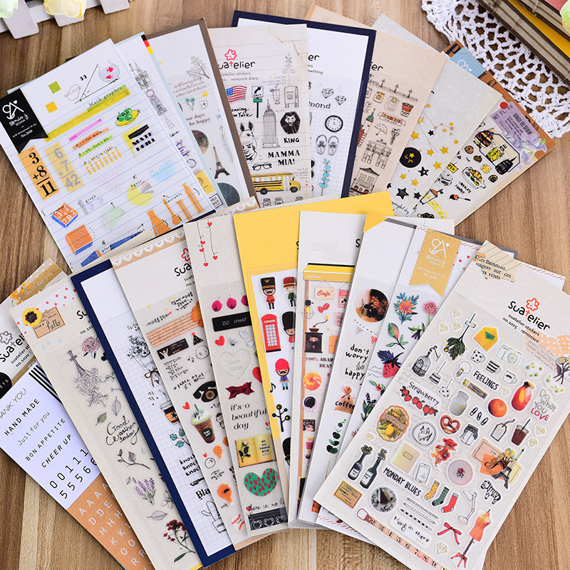 1 Piece Cute Korea Stickers PVC Decorative Sonia Stickers DIY Stickers Decorative Stickers 19 Styles To Choose School Supplies