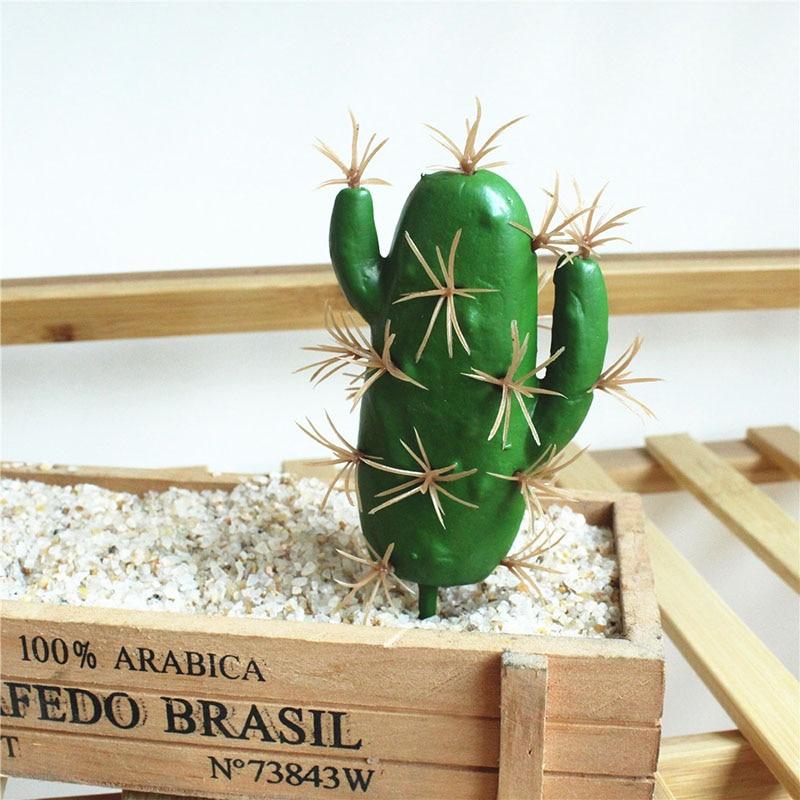 Portable Fake Simulation Cactus Succulent Artificial Flower Tropical Plant Creative Home Decor