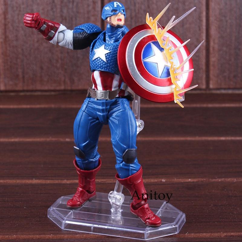 Avengers Series NO.007 Captain America Figure Avengers Assemble Figure Doll PVC Action Figure Collectible Model Toy 1