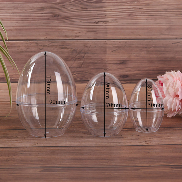 1Pc Plastic Clear Mould Reusable Eggs Shape Crafting DIY Bath Bomb Mold Home Hotel Decor For Christmas Gift Bath Care Tool