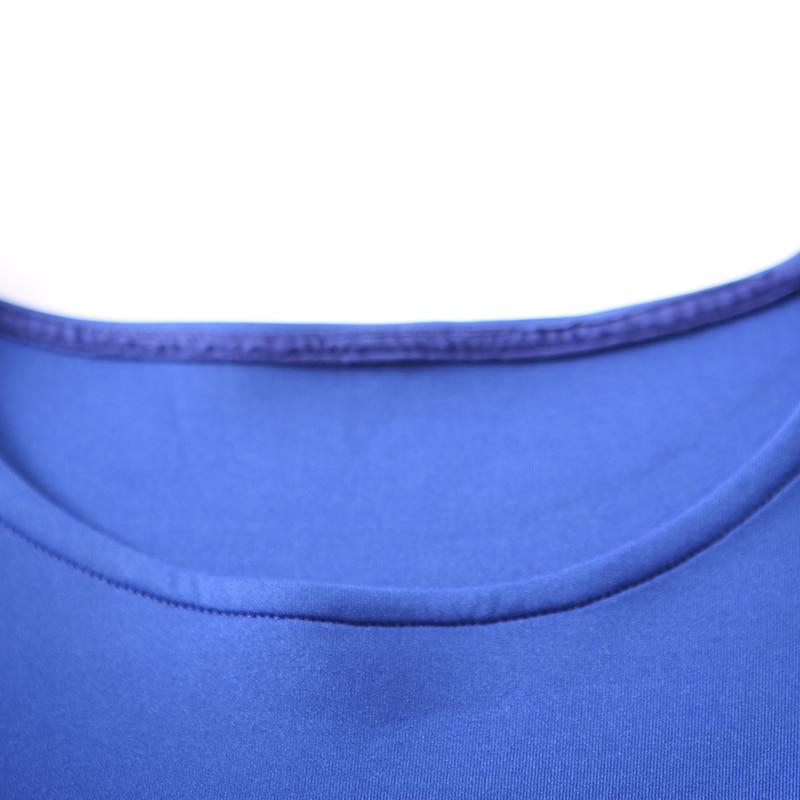 Avant Grande Q8012 Retour Longue Ourlet Robe Court Manches À point Col Neuf Artistique Taille Sapphire Rond 8ffqxwYr5