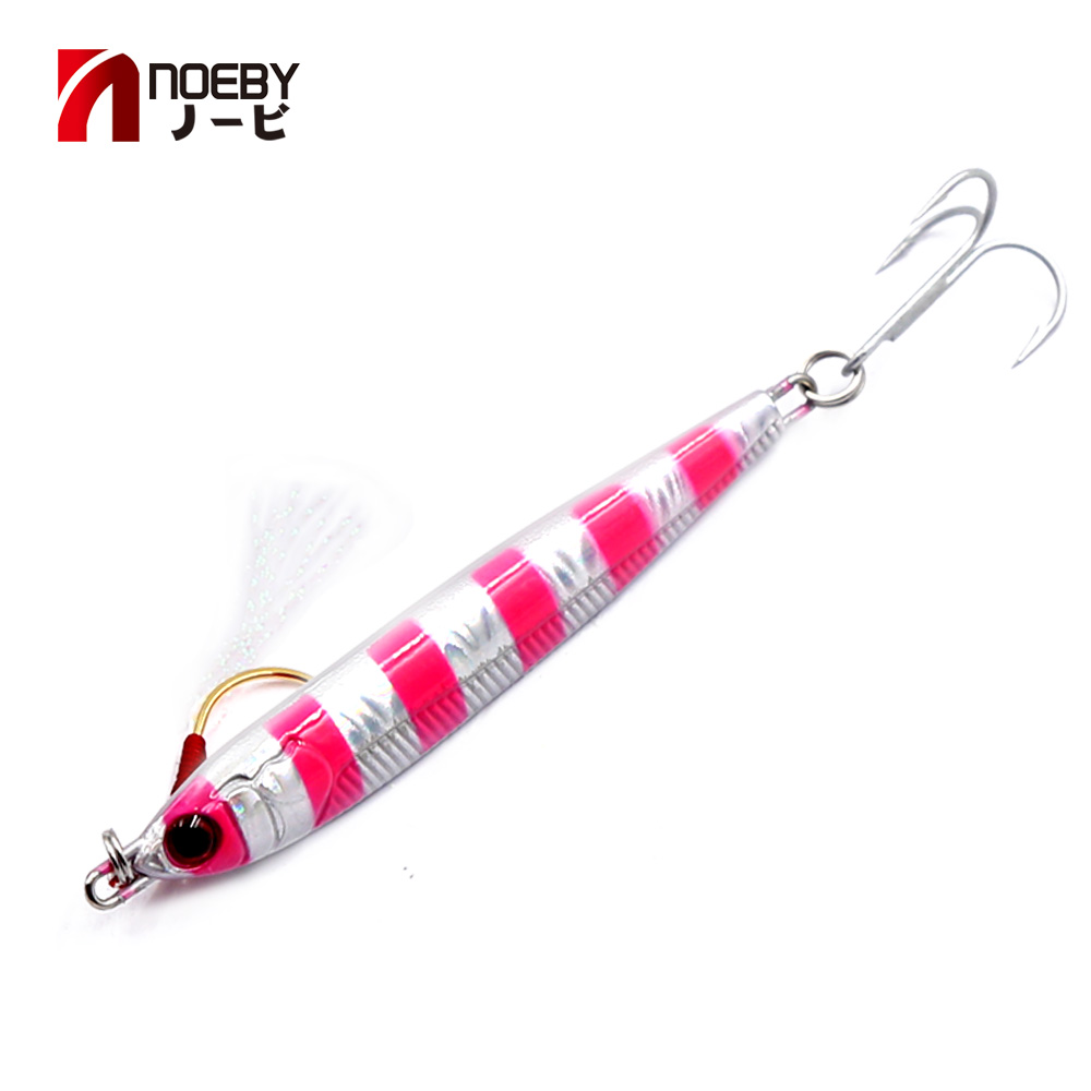 Noeby 21g 28g <font><b>40g</b></font> <font><b>jig</b></font> lures head spoon lead <font><b>jig</b></font> <font><b>metal</b></font> fishing whobblers bait new style hot selling jigging lure shone lure image