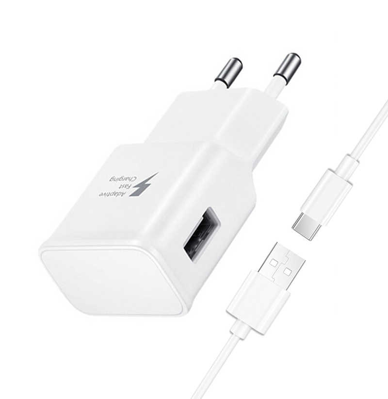 Adaptieve Snel Opladen USB Lader Kit Set USB-C Kabel Voor Samsung Galaxy S10 S8 S9 + Note 8 9 a10 A20 A30 A40 A50 A60 A70