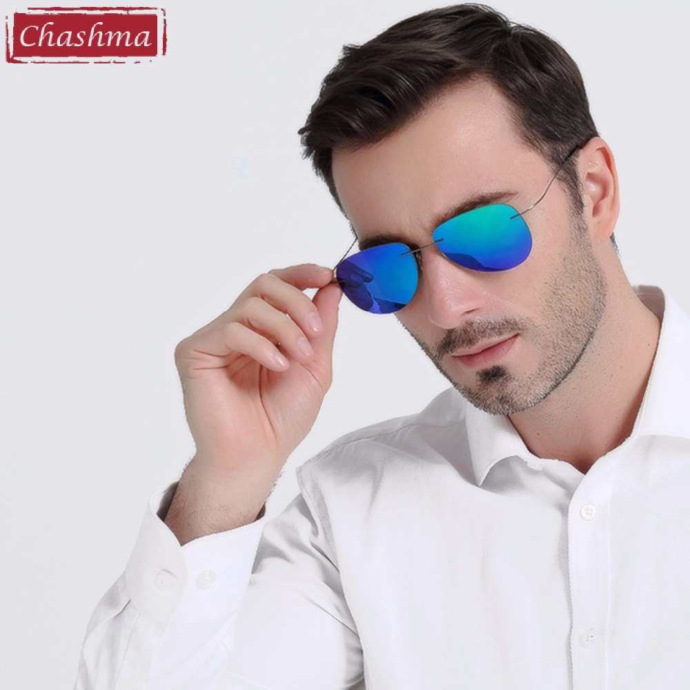 Chashma font b Fashion b font Brand Designer Sun Glasses Rimless font b Polarized b font