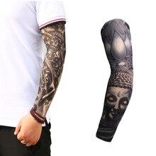 Hot Cycling Sports Tattoo Sleeves UV Cool Arm Running Warmer Sport Elastic Oversleeve Warmers