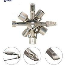 Clé universelle à interrupteur croisé pour électricien, multifonction 10 en 1, clé triangulaire carrée pour radiateur à gaz