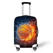 Housse de protection pour valise, accessoires de voyage, mouvement feu, couverture de bagage, maletas voyage copri valigia koferhoes