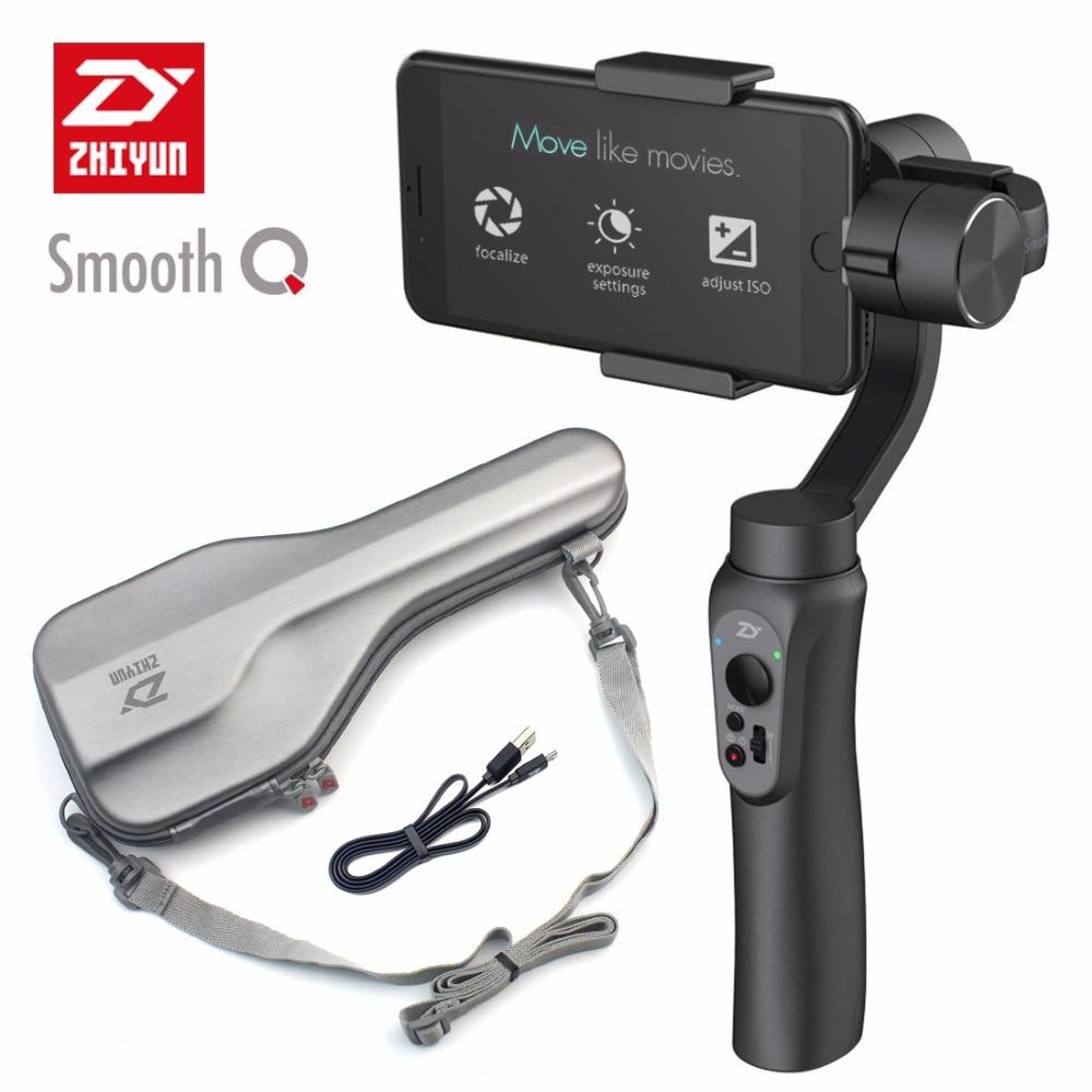 Zhiyun Smooth Q 3-Axis Handheld Gimbal Smartphone Stabilizer Following Shoot mode yuneec q500 typhoon quadcopter handheld cgo steadygrip gimbal black