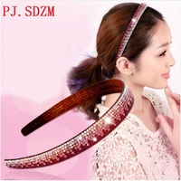 Crystal Headbands Fashion Women All Match Rhinestone Hairbands Woman Gradient Color Hair Accessory Headwear Birthday Gift