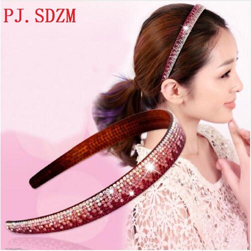 Crystal Headbands Fashion Women All Match Rhinestone Hairbans