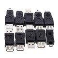 Высокое Качество Оптовая 10 шт. OTG 5pin F/M Changer Адаптер Конвертер USB Мужчина к Женский Micro USB