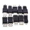High Quality Wholesale 10pcs OTG 5pin F/M Changer Adapter Converter USB Male to Female Micro USB