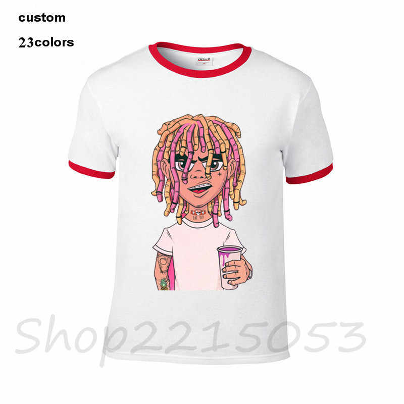 71f366e87d42 ... 2018 hip hop Lil Pump T Shirts Short Sleeve Custom logo brand Men's  T-shirts
