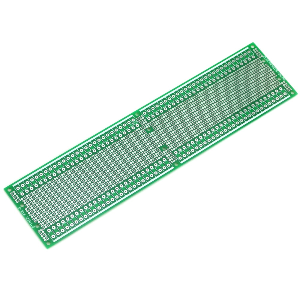 Double-Side Prototype PCB,Universal Board, 296x72mm. ...