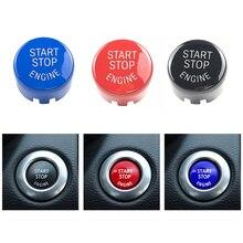 Accesorios de coche con motor botón reemplazar la tapa del interruptor decoración para BMW F20 F10 F01 F26 F15 F16 Coche motor botón cubierta