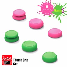6 In1 Thumb Stick Cap Skull&Co for Nintend Switch Joy Con Controller Button Grips Cover for Nintend Switch Lite Joystick Cap Set