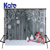KATE Photography Backdrops Christmas Backdrop Boneco De Neve Photo Christmas Snow Photos Candy Cane Wood Kids Winter Backdrops