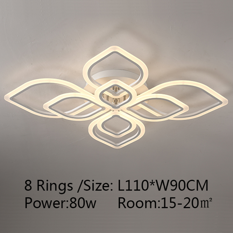 Surface mount Chandelier Modern LED Hardware Acrylic Chandelier Lighting fixtures luminaire plafonnier for living room Bedroom desigual desigual de002awinw92