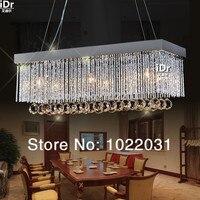 6 bombillas K9 araña de cristal Diseño popular cuadrado nuevas luces de cristal E14 modernas precio de fábrica luz de alto grado