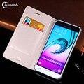 Cubierta de la cartera de cuero teléfono caso para Samsung Galaxy J3 DE 2016 2015 GalaxyJ3 J 3 SM J320 J320F J320H J320FN SM-J320F SM-J320FN