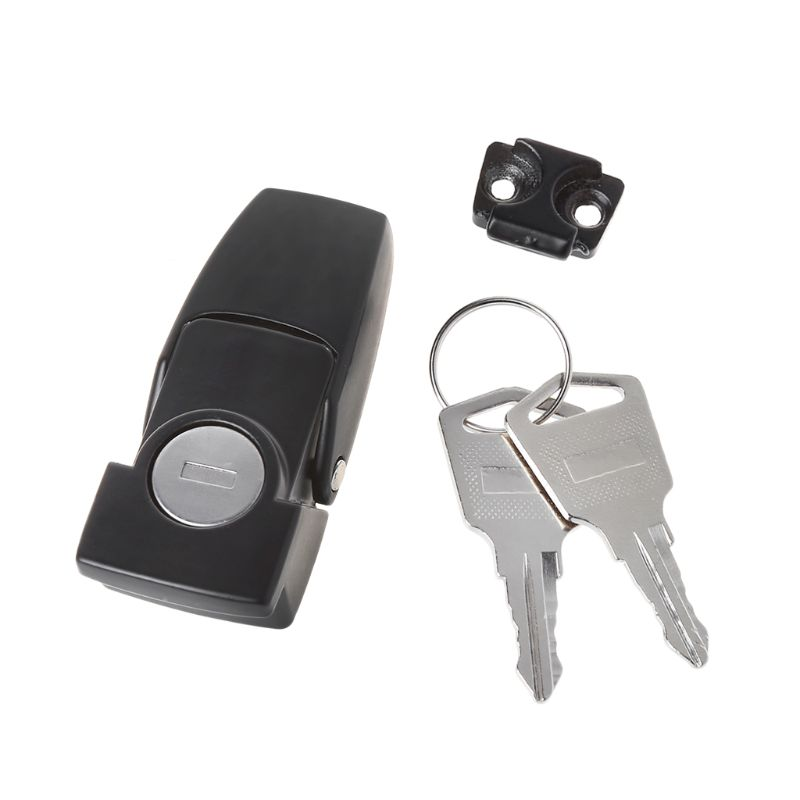 Cabinet Black Coated Metal Hasp Latch DK604 Security Toggle Lock With Two Keys