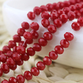 Wholesale 140pcs Porcelain Red Color Cut&Faceted Crystal Glass Beads.Spacer Beads 8x6mm Flat Round Rondelle Charm DIY Bead