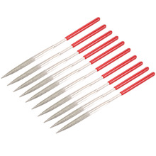 UXCELL Hot Sale 10PCS 150 Grit 4x160mm/5x180mm Triangular/Round/Flat/Half Round Diamond Needle File, Art Craft or Jewelry DIY