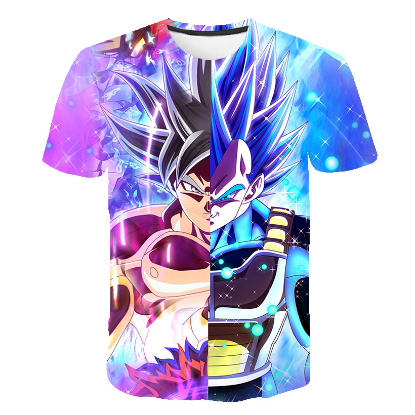 US $12.7 |New 2019 Men Dragon Ball Z t shirt Son Goku Vegeta Bodybuilding T Shirt Super Saiyan Shirt summer Clothes Homme Dragonball Tee in T Shirts