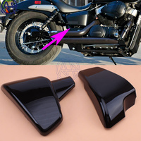 1pair Left and Right Battery Side ABS Fairing Cover Black For Honda Shadow VT600 VLX 600 STEED400 1988 1998