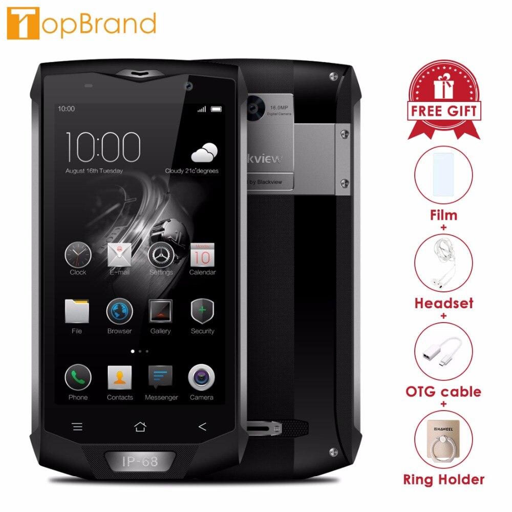 Blackview BV8000 Pro 4g Mobile Téléphone 5.0 pouce FHD MTK6757 Octa base Android 7.0 6 gb RAM 64 gb ROM 16MP Étanche IP68 Wifi GPS