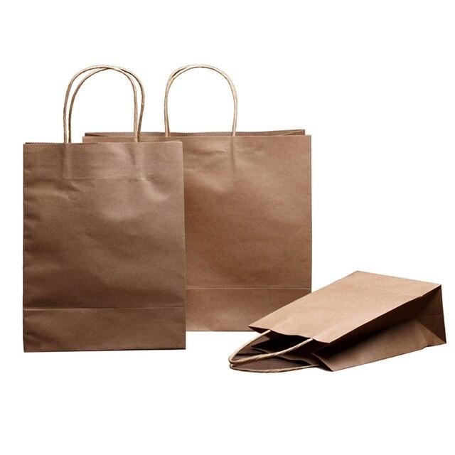 15271b696 Atacado brown kraft papel carregar sacos recicláveis saco sacos estampados  publicidade promoção saco de embalagem universal