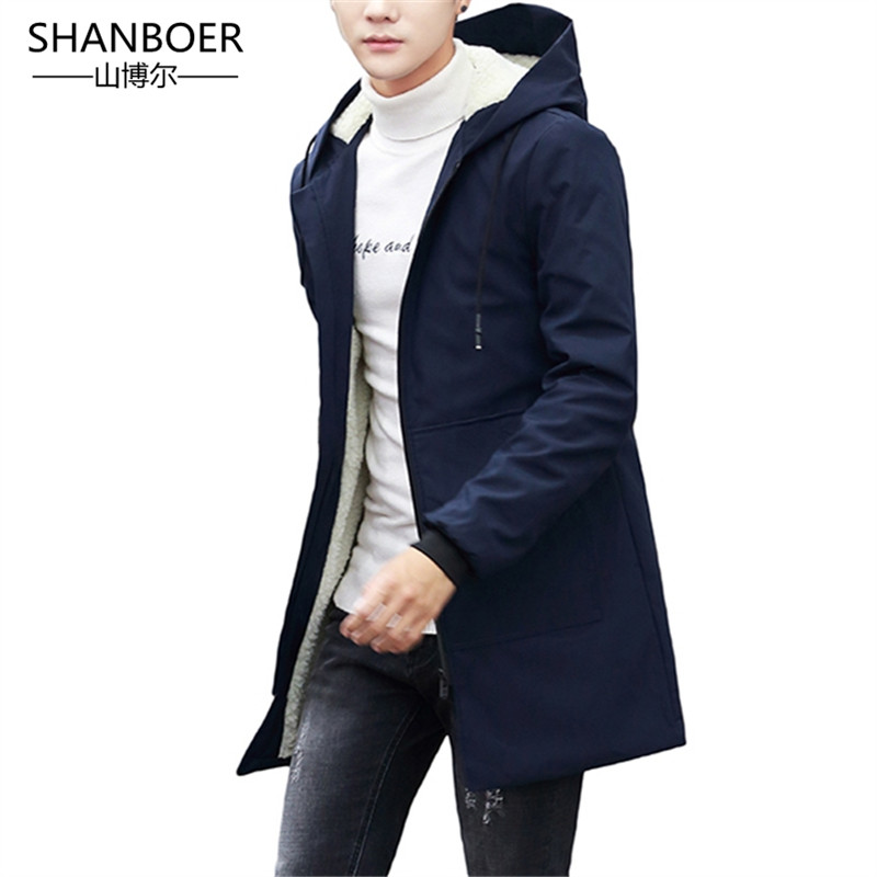 Winter Jacket men hooded Slim Korean Parka Hombre long Jacket coat cashmere mens windbreaker Parkas cotton Oversized 5XL(China)