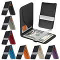 New Arrivel Men's Fashion Faux Leather Money Clip Slim Wallet ID Credit Card case