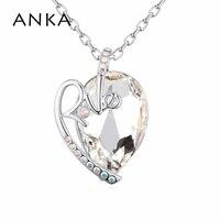 ANKA promoção simples carta de amor colar grande colar de cristal colar do amor Para As Mulheres presente Cristais de Swarovski #123639