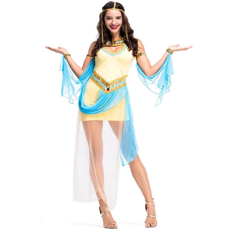 New Ancient Egyptian Pharaoh Cleopatra Princess Dress Ladies Dress Stage Party Performance Costume Cosplay Suit