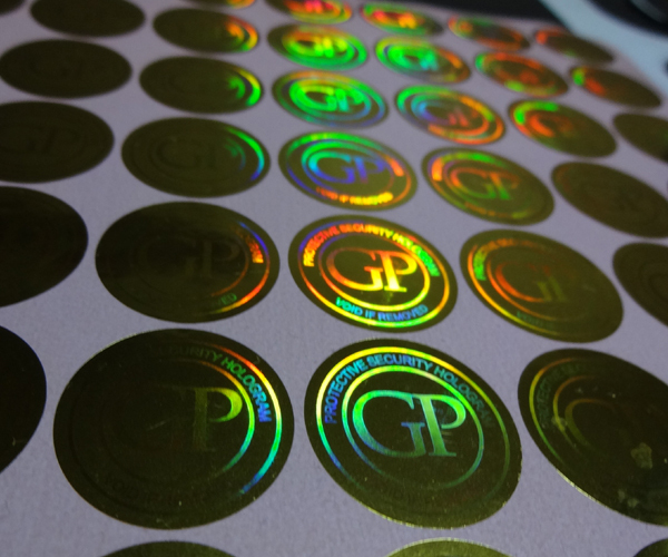Custom made void hot stamping hologram stickers labels free design void if removed