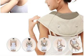 Shoulder Knocking Taping Massager Car Home Use Belt Cervical Shiatsu Massage Infrared Heating Full Body Neck Electronic Therapy