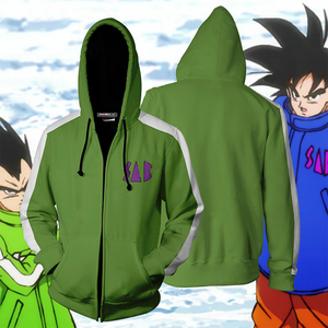 Image 4 - BIANYILONG 2019 New Autumn Winter 3D print Dragon Ball SAB Vegeta And Goku Cosplay Zip Up Hoodie Jacket clothing