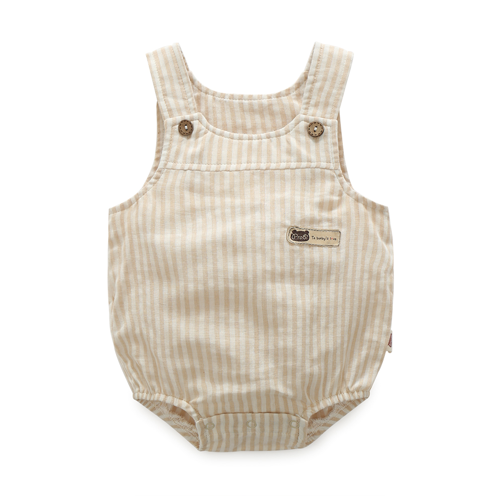 Summer Style Baby Romper Newborn New Design Cotton Ruffle Romper Boy Clothing Triangle Jumpsuits Stripe Thin Organic Cotton Vest