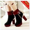 Koovan mulheres botas sapatos mulher sapatos de salto alto mulheres bombas sapato nova Primavera E Outono Botas Martin O Mais Popular de Moda de Nova