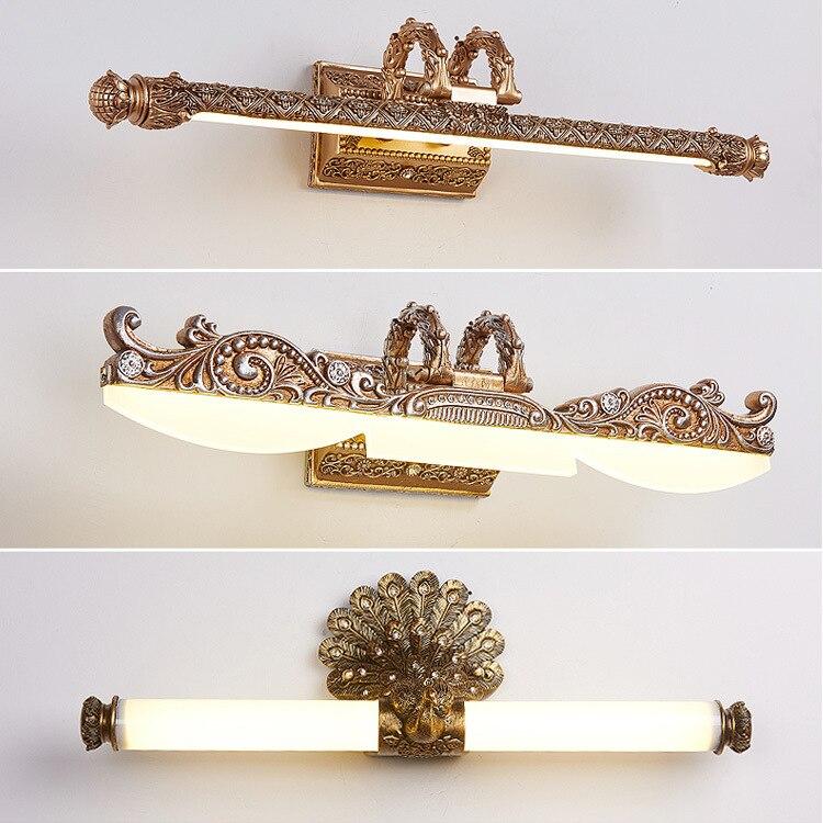 Светодиодный светильник зеркало, освещение для туалетного столика, скандинавские ретро настенные лампы, приспособления для макияжа, Парикмахерская, туалетный столик, освещение для ванной комнаты
