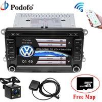 Podofo Voiture Lecteur DVD GPS De Voiture Radio stéréo Bluetooth FM De Voiture audio 2 Din 7